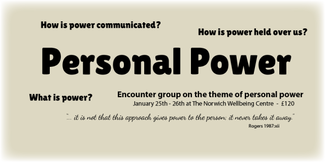 Encounter group on the theme of personal power