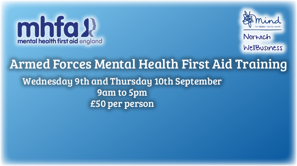 Armed Forces Mental Health First Aid Training