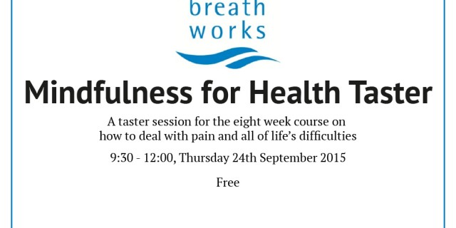 Mindfulness for Health Taster