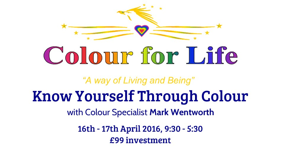 Know yourself through colour April 2016