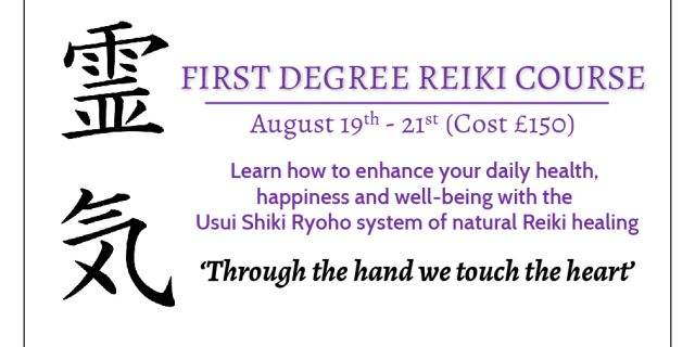 Reiki One course 2016