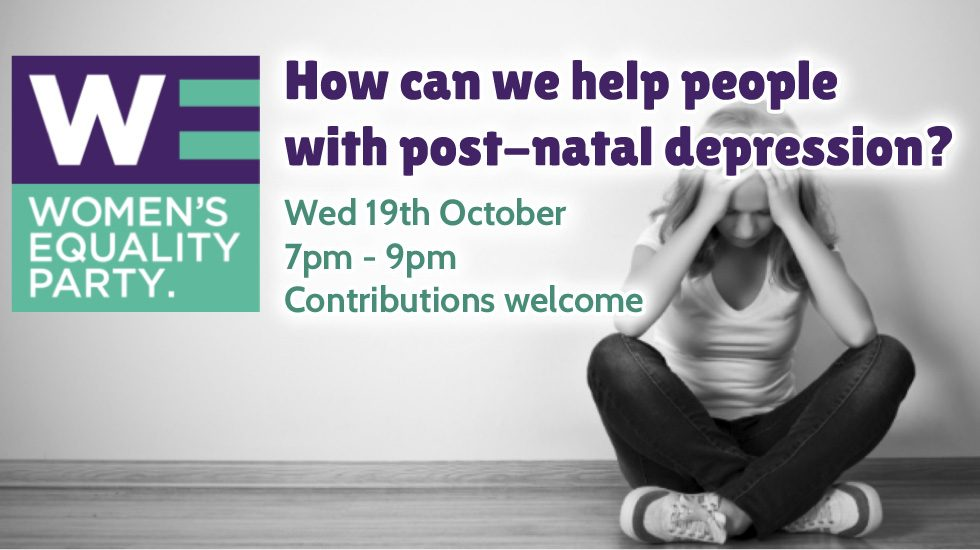 How to help perople with post-natal depression